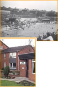 Grotton Lido as it once was and Lido House.